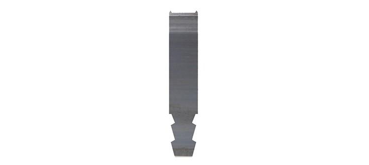Ausbrechplatte mit Spitze, Stärke 3 pt., Höhe 50,9 mm, Breite 10 mm (VE = 500 St)