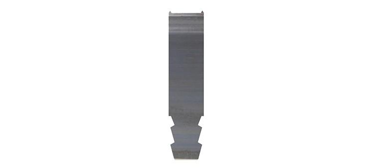Ausbrechplatte mit Spitze, Stärke 3 pt., Höhe 50,9 mm, Breite 12 mm (VE = 500 St)