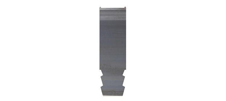 Ausbrechplatte mit Spitze, Stärke 3 pt., Höhe 50,9 mm, Breite 15 mm (VE = 500 St)