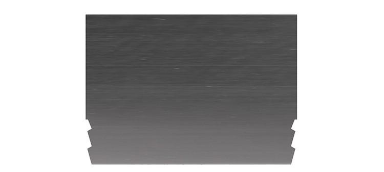 Ausbrechplatte ohne Spitze, Stärke 3 pt., Höhe 50,0 mm, Breite 70 mm (VE = 100 St)