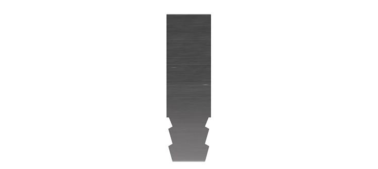 Ausbrechplatte ohne Spitze, Stärke 3 pt., Höhe 50,0 mm, Breite 15 mm (VE = 500 St)