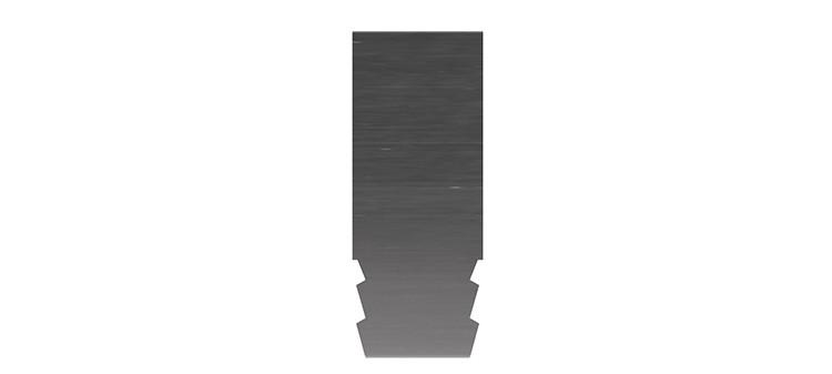 Ausbrechplatte ohne Spitze, Stärke 3 pt., Höhe 50,0 mm, Breite 20 mm (VE = 300 St)