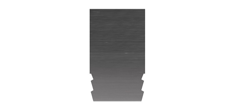 Ausbrechplatte ohne Spitze, Stärke 3 pt., Höhe 50,0 mm, Breite 30 mm (VE = 200 St)