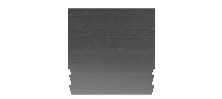 Ausbrechplatte ohne Spitze, Stärke 3 pt., Höhe 50,0 mm, Breite 50 mm (VE = 200 St)