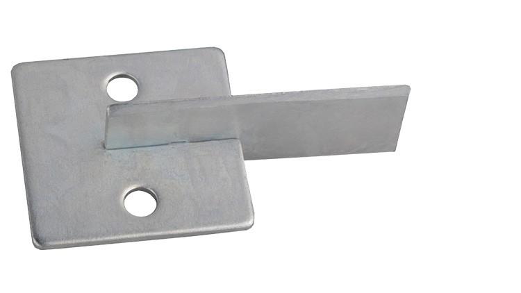Abstreifwinkel, Trennmesser, für unteres Ausbrechbrett, 55 mm