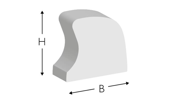 CITO MASTER Rubber, 700 × 5,0 × 7,3 mm, weiß