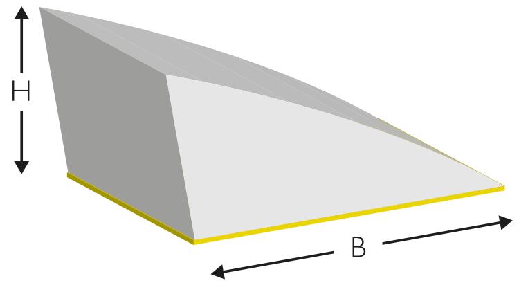 CITO Cushion Crease EasyFix 16,5 × 6,4 mm, gelb