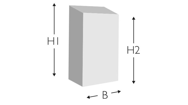 """Vollgummi-Profil D/5, """"VIOLETT"""", 70° Shore A, 700 × 5 × 8,5/7,5 mm"""