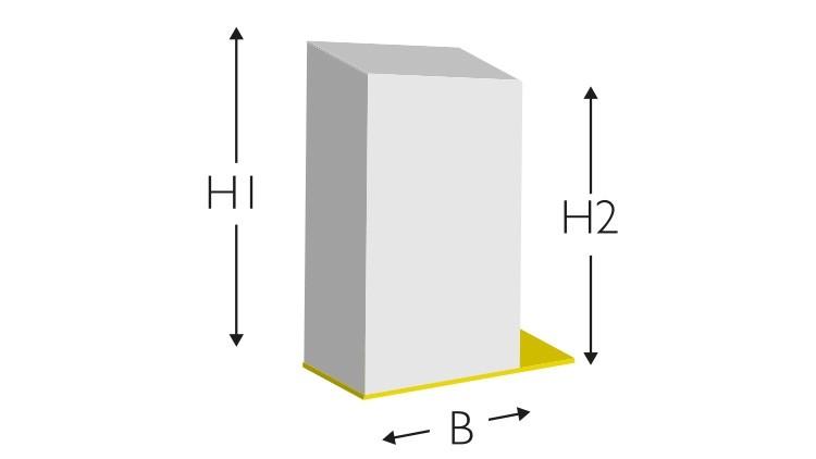 """Vollgummi-Profil D/5, EasyFix, """"GELB"""", 70° Shore A, 700 × 5 × 7/6 mm"""