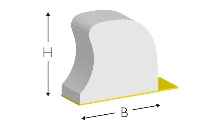 CITO FAST Rubber EasyFix, 700 × 8,5 × 9,5 mm, weiß
