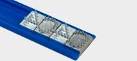 Spikeleiste für Mini-Spikes, 1 m × 16,4 mm, blau
