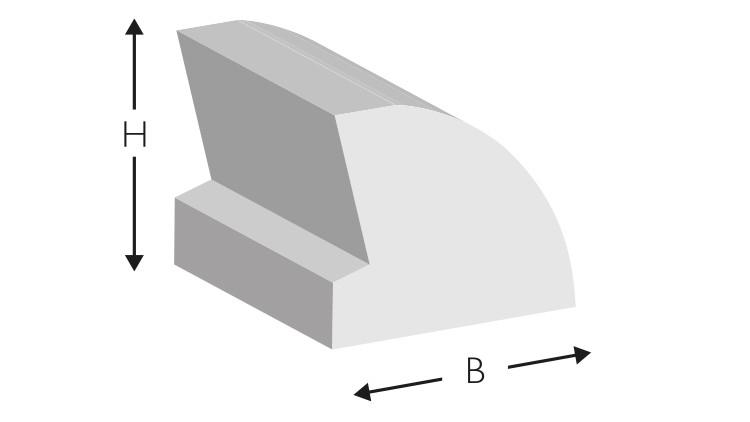 Kork-Profil PRO mit Abstandhalter, 700 × 8 × 7 mm