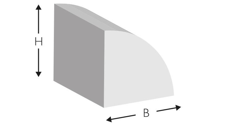 Kork-Profil, abgerundet, 700 × 10 × 10 mm