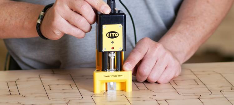CITO LaserInspektor Messgerät zur Vermessung des Schnittspalts inkl. Software LI Windows inkl. Gebrauchsnormal