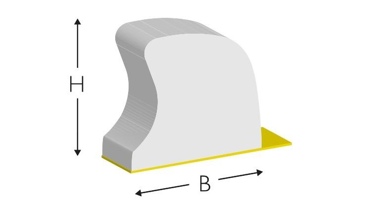 CITO MASTER Rubber EasyFix, 700 × 5,0 × 7,3 mm, weiß