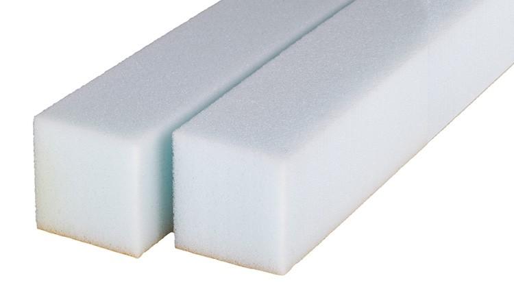 Stripping Foam RG 35, blau 1000 × 40 × 40 mm, selbstklebend